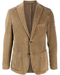 Eleventy Corduroy Single-breasted Blazer - Multicolour