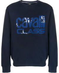 Class Roberto Cavalli ロゴ スウェットシャツ - ブルー