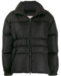 Moncler ロゴパッチ パデッドジャケット - ブラック