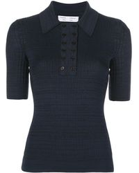PROENZA SCHOULER WHITE LABEL Marl Knitted Polo Shirt - Blue