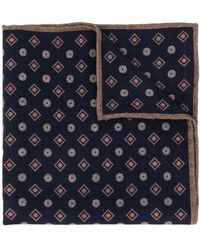 Eleventy - Diamond-pattern Scarf - Lyst