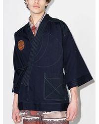 Nicholas Daley Do-gi Logo-patch Jacket - Blue