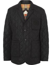 Burberry Quilted Thermoregulated Blazer - Black