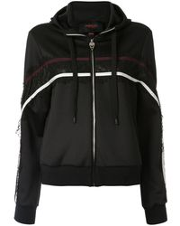 Giambattista Valli Lace Panel Zipped Hoodie - Black