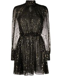 MSGM Платье С Эффектом Металлик - Черный