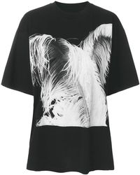 Maison Margiela - Feather Print T-shirt - Lyst