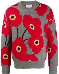 AMI Floral Motifs Sweatshirt - Multicolor
