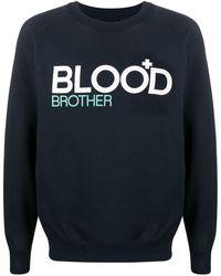 Blood Brother プリント スウェットシャツ - ブルー