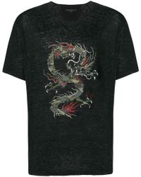John Varvatos - Dragon Print T-shirt - Lyst