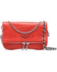 Zadig & Voltaire Мини-сумка С Тиснением Под Кожу Крокодила - Красный