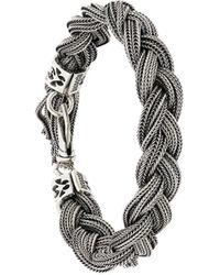 Emanuele Bicocchi Geweven Armband - Metallic