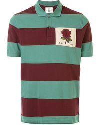 Kent & Curwen Rose Patch Colour Block Polo Shirt - Green