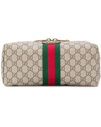 Gucci Trousse Ophidia GG - Marrone