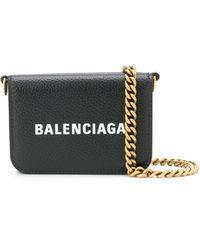 Balenciaga Cartera mini con logo estampado - Negro