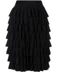 Norma Kamali ラッフル スカート - ブラック