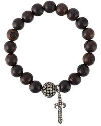 Loree Rodkin - Bead Sapphire And Diamond Charm Bracelet - Lyst