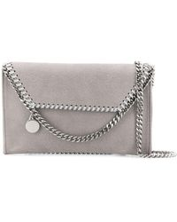 Stella McCartney Falabella Foldover Shoulder Bag - Grey