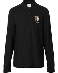 Burberry Рубашка-поло С Логотипом - Черный