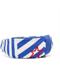 Perfect Moment Contrast-stripe Belt Bag - Blue