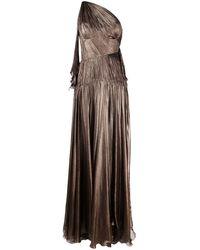Maria Lucia Hohan Платье Matilda На Одно Плечо - Коричневый