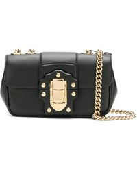 b91ad288dbf3 Lyst - Dolce   Gabbana Double-Flap Quilted-Leather Shoulder Bag in Black