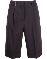 Peserico Pressed-crease Shorts - Gray