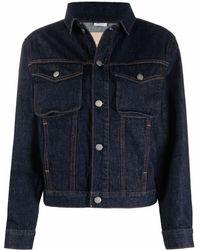 Calvin Klein Cropped Buttoned Denim Jacket - ブルー