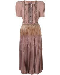 Bottega Veneta ラッフル イブニングドレス - ブラウン
