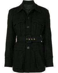 Karen Walker Olivine Belted Jacket - Black