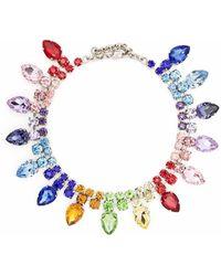Philipp Plein Crystal-embellished Necklace - Blue