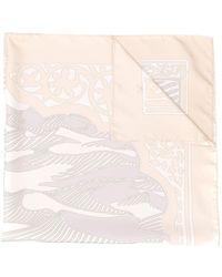 Hermès Foulard à imprimé abstrait - Multicolore