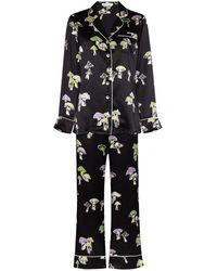 Olivia Von Halle Pijama Lila Irma - Negro