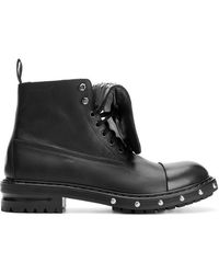 Alexander McQueen - Studded Military Boots - Lyst