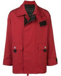 Mackintosh 0004 Brick Red Virgin Wool Blend 0004 Fireman Coat