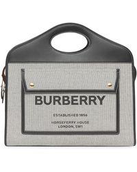 Burberry - Pocket バッグ M - Lyst