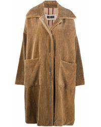 Uma Wang Manteau oversize à simple boutonnage - Marron
