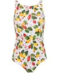 Isolda Printed Cajueiro Swimsuit - Multicolour