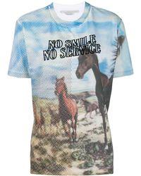 Stella McCartney 'No Smile No Service' T-Shirt - Weiß