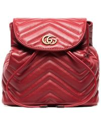 Lyst - Gucci Women s GG Marmont Chevron Quilted Leather Mini ... 32e5926463