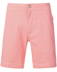 Onia Micro print swimming shorts - Rouge