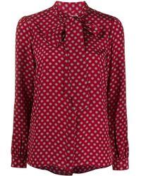 MICHAEL Michael Kors Блузка С Завязками На Воротнике И Принтом - Красный