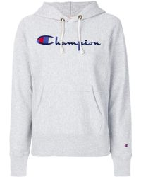 Champion REVERSE WEAVE BY SWEATSHIRT - Gris