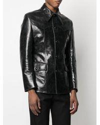 Sankuanz Leather Shirt Jacket - Black