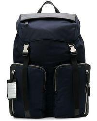 Fpm Fabbrica Pelletterie Milano Double Buckle Backpack - Blue