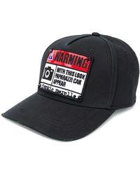 Frankie Morello Warning Patch Baseball Cap - Black