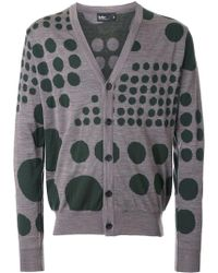 Kolor - Dot Pattern Cardigan - Lyst