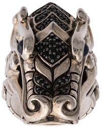 John Hardy Серебряное Кольцо Legends Naga С Сапфирами И Шпинелью - Металлик