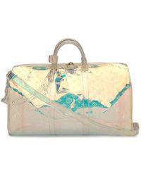 Louis Vuitton Borsa da viaggio Keepall Bandouliere 50 x supreme Pre-owned - Multicolore