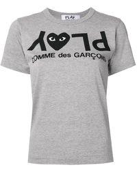 COMME DES GARÇONS PLAY ロゴ Tシャツ - グレー