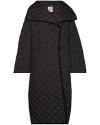Totême Annecy Quilted Padded Coat - Black